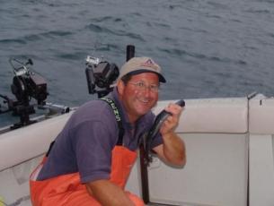 Capt Bob With A Lamprey