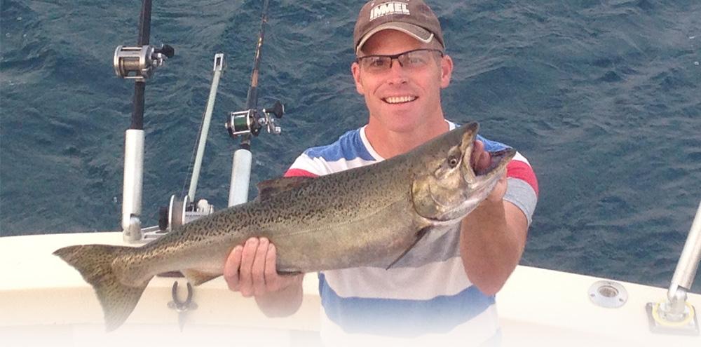 Indiana fishing charter boats for Lake michigan fishing charters