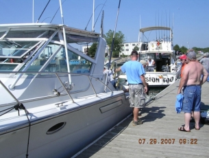 Northpoint at the staging dock 2 boater